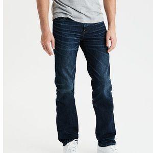 American Eagle Low Rise Bootcut Jeans - darkwash